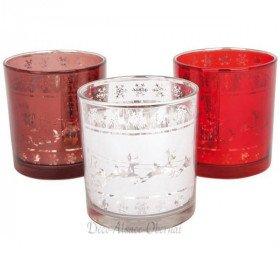 Teelichtglas Rentierschlitten