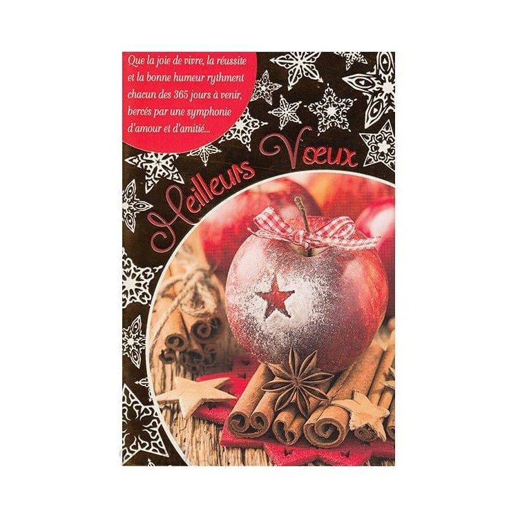 Retrouvez Carte de Voeux Pomme d'Hivers et Cannelle et Meilleurs Voeux à Obernai