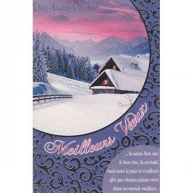Grußkarte Kabine im Schnee Jahreszeit-Grüße