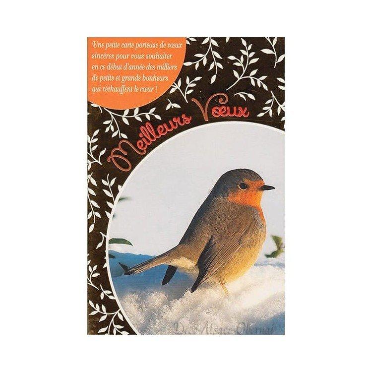 Retrouvez Carte de Voeux Oiseau sur la Neige Meilleurs Voeux à Obernai