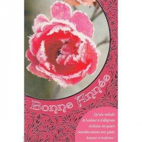 Grußkarte Guten Rutsch ins Neue Jahr Frosted Rosa