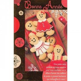 Grußkarte Guten Rutsch ins Neue Jahr Biscuits Alsace