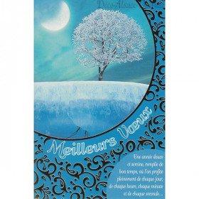 Grußkarte Winter-Landschaft Beste Wünsche