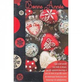 Grußkarte Weihnachtsdekoration und Happy New Year
