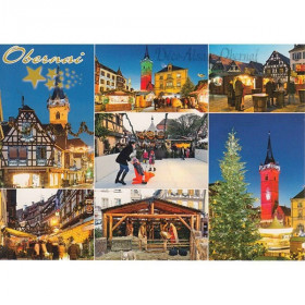 Postkarte Weihnachten in Obernai in Multi-View