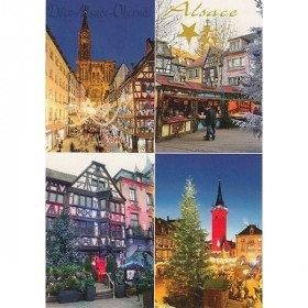 Postkarte Alsace Villages zu Weihnachten