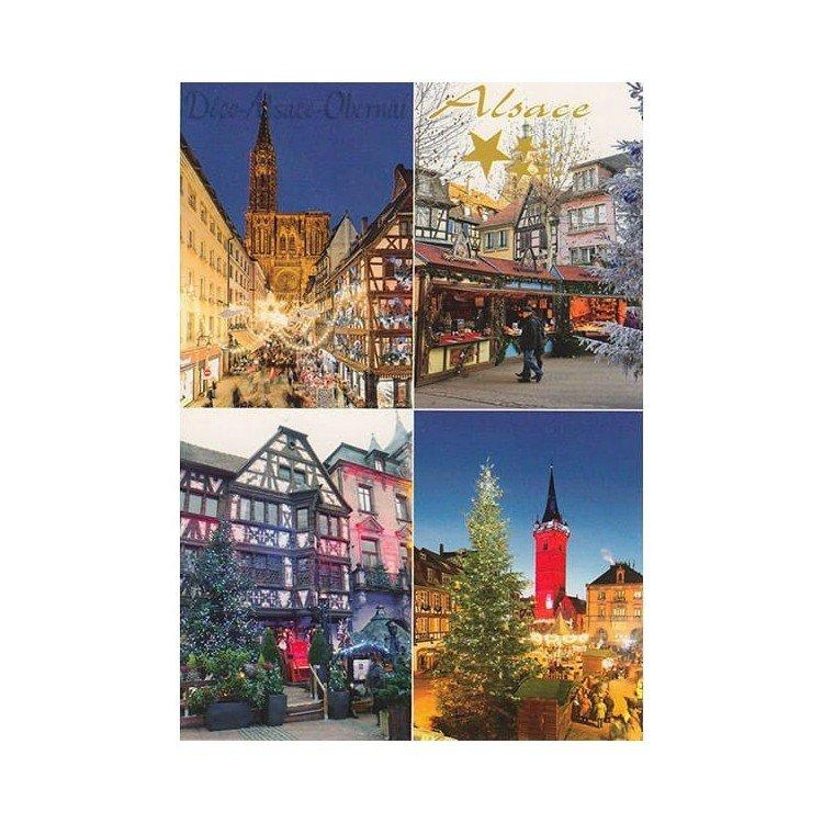 Retrouvez Carte Postale Villages d'Alsace à Noël à Obernai