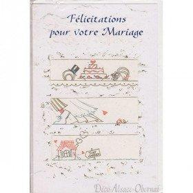 Glückwünsche auf Ihrer Hochzeit Grußkarte in La Boite aux Trésors in Obernai