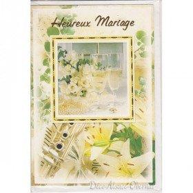 Carte de Voeux Heureux Mariage et Enveloppe à La Boite aux Trésors à Obernai