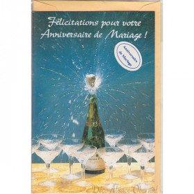 Carte Félicitation pour votre Anniversaire de Mariage