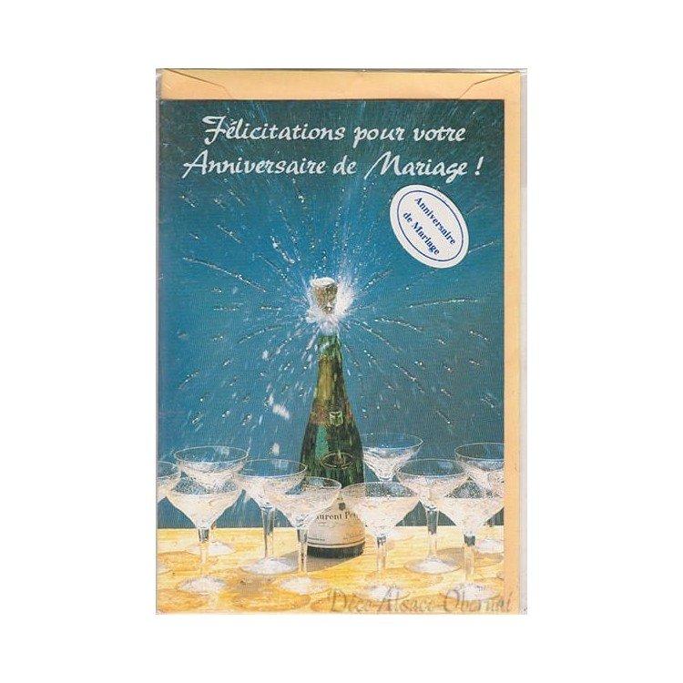 Retrouvez Carte Félicitation pour votre Anniversaire de Mariage à Obernai