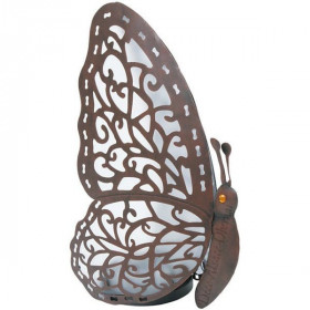 Metal and Led Butterfly Lamp