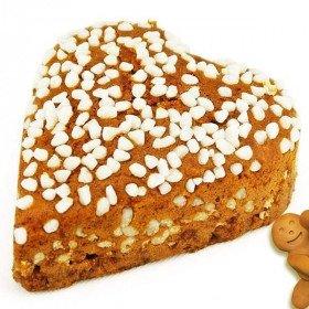 Lebkuchen Herz mit Honig Und Perlzucker in La Boite aux Trésors in Obernai