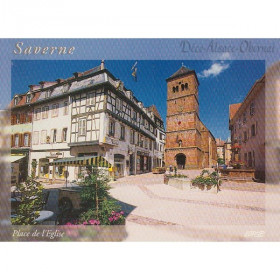 Postkarte Square Church in Saverne