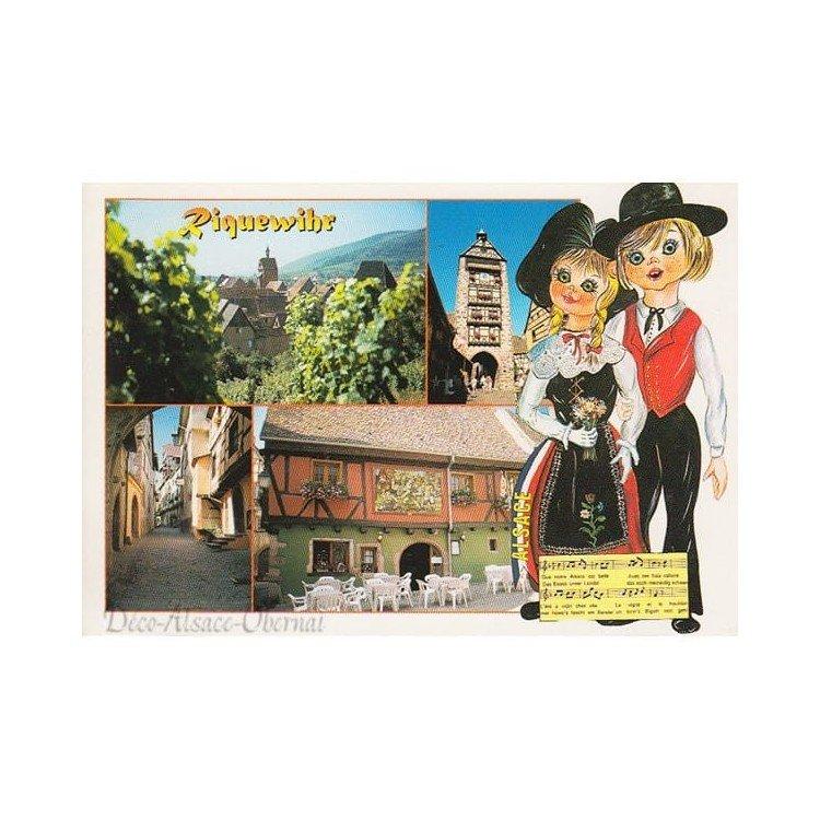 Retrouvez Carte Postale Vue du Vignoble à Riquewihr à Obernai