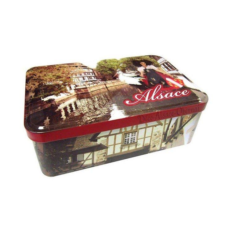 Boite à Sucre décor Alsace et Cigogne