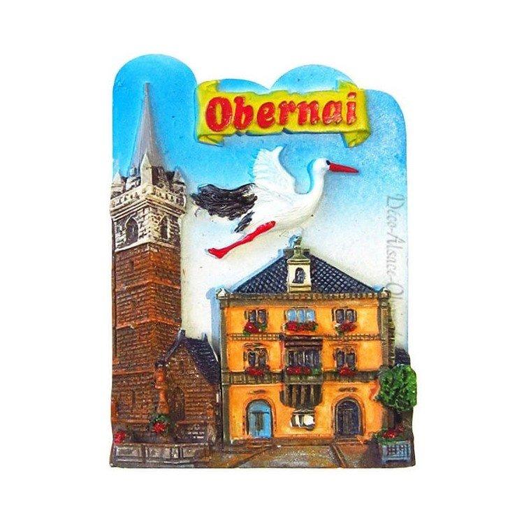 Retrouvez Magnet Décoratif Ville d'Obernai et Cigogne à Obernai