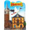 Dekorative Magnet Stadt Obernai Stork