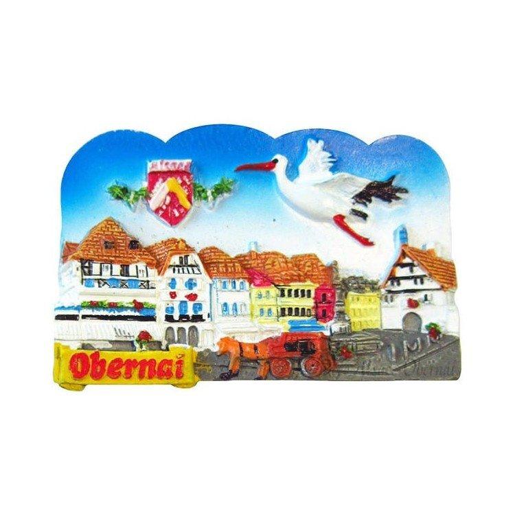 Retrouvez Magnet Décoratif la Place du Marché au coeur de la Ville d'Obernai à Obernai