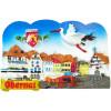 Magnet Dekorative Marktplatz im Herzen der Stadt Obernai