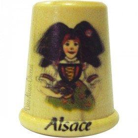 Fingerhut Holz silkscreened Alsace und Alsace