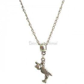 Anhänger Halskette mit Storch und Baby Alsace