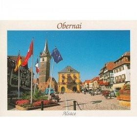 Postkarte Obernai Marktplatz in La Boite aux Trésors in Obernai