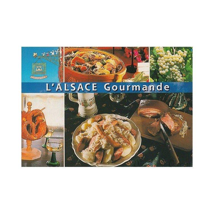 Carte Postale l'Alsace Gourmandes et Paysages à La Boite aux Trésors à Obernai