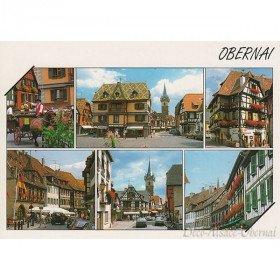 Postkarte Ansicht von Innenstadt von Obernai
