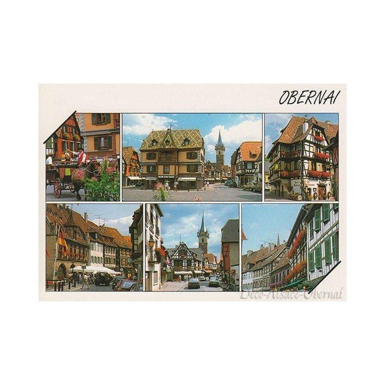 Carte Postale vue du Centre Ville d'Obernai