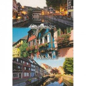 Postkarte der Farben des Elsass in La Boite aux Trésors in Obernai