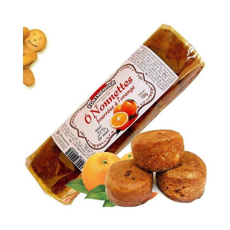 Retrouvez Nonnettes au Miel Fourrées à l'Orange à Obernai
