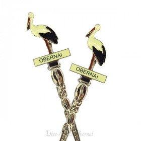 Löffel Stork Sammlung Obernai in La Boite aux Trésors in Obernai