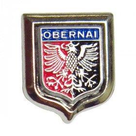 Pin's de Collection avec Ecusson d'Obernai La Boite aux Trésors à Obernai