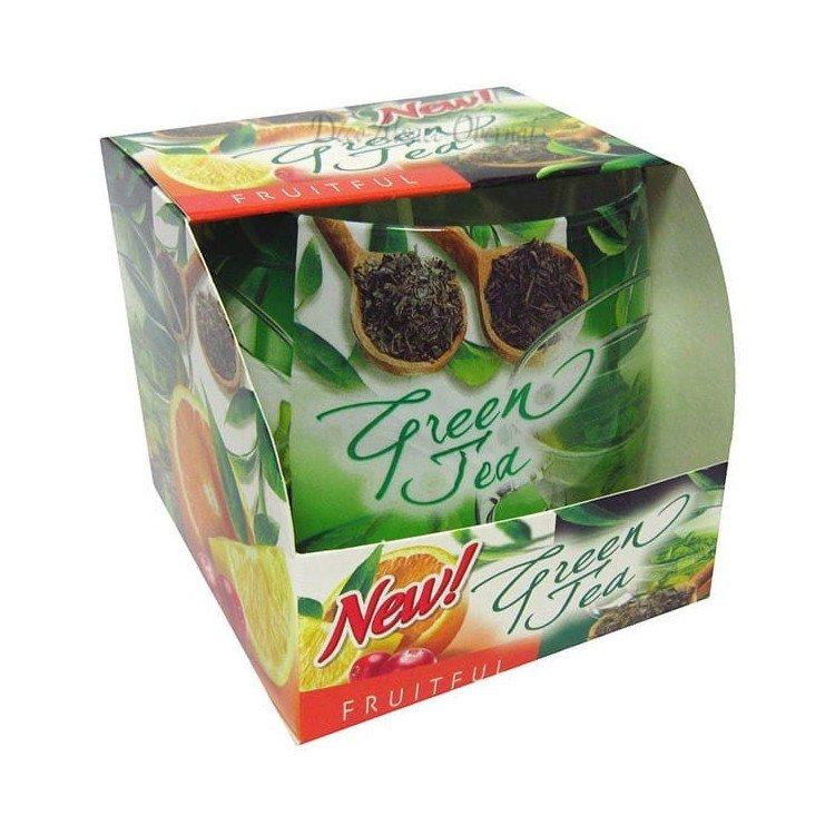 Découvrez Bougie parfumée Green Tea aux Fruits au Magasin La Boite aux Trésors à Obernai