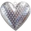 Silber Elsass Herz aus geprägtem Metall