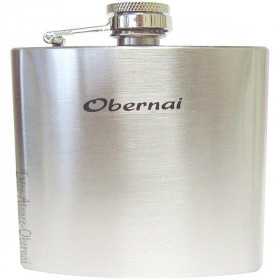 Steel Alcohol Flask for Eau de Vie marked Obernai