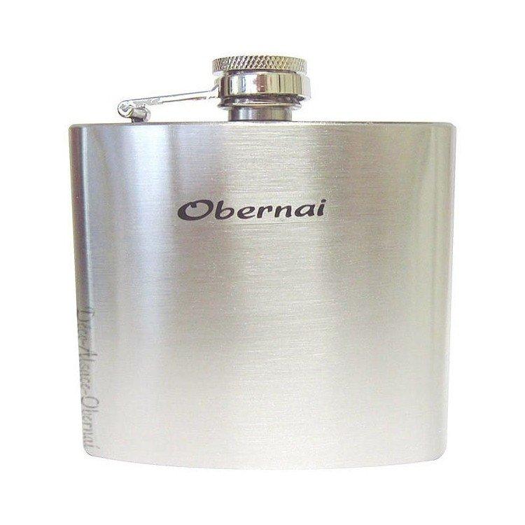 Retrouvez Flasque à Alcool en acier pour Eau de Vie marqué Obernai à Obernai