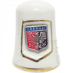 Ceramic Collection Thimble with Obernai Crest