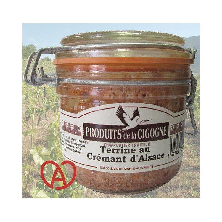 Retrouvez Terrine Artisanale au Crémant d'Alsace à Obernai