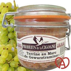 Artisanal-Terrine mit Marc de Gewürztraminer in La Boite aux Trésors in Obernai