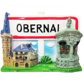Decorative City Magnet and Obernai Sign