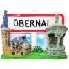 Magnet Décoratif Ville et Panneau Obernai