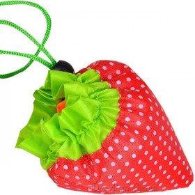 Einkaufstasche Wiederverwendbare Black Nylon Falten Erdbeere in La Boite aux