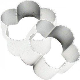 Gebäckstück aus Aluminium förmigen Blüten in La Boite aux Trésors in Obernai