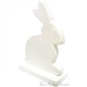 Kaninchen sitzen auf dekorativen Sockel Keramik Weiß in La Boite aux Trésors in