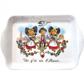 Plateau de Service décor Alsacien et Un P'tit Air d'Alsace