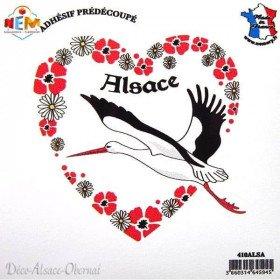 Aufkleber Herz Stork Alsace