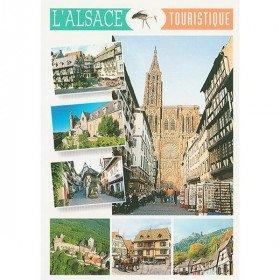 Carte Postale L'Alsace Touristique