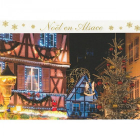 Christmas Holidays in Alsace Postcard